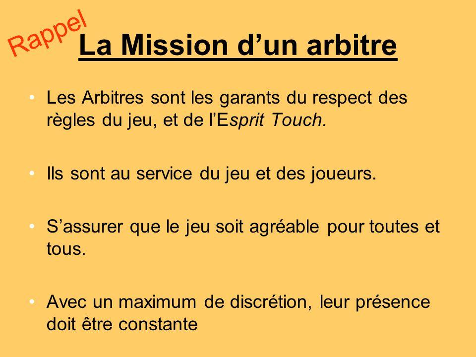 La Mission d'un arbitre