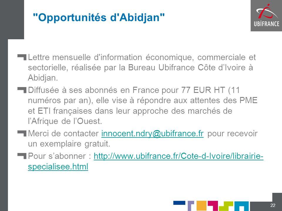 Opportunités d Abidjan
