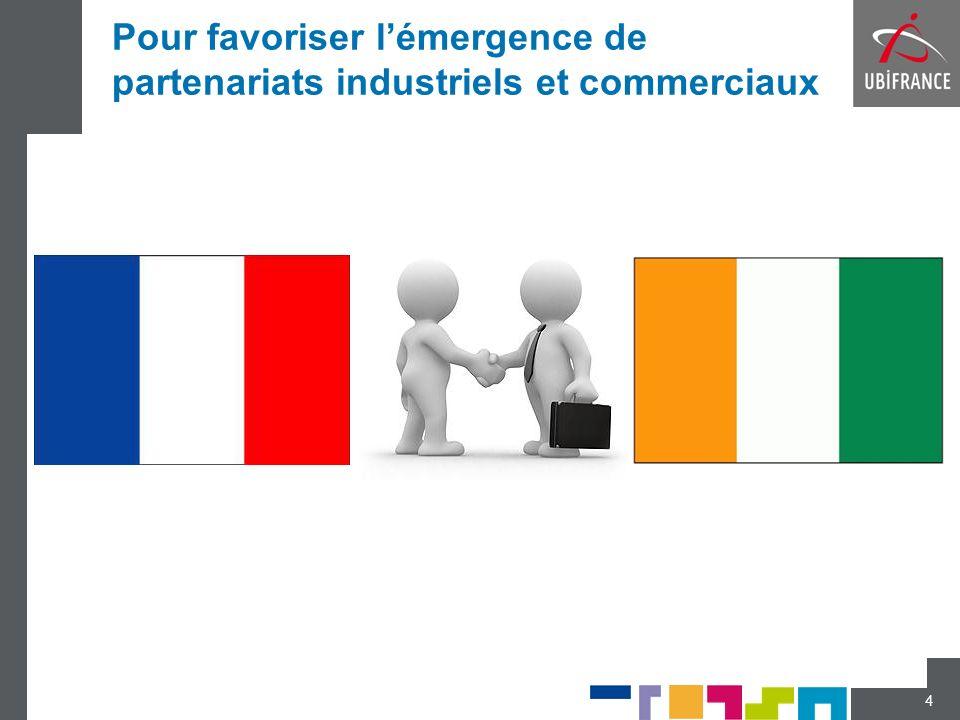 Pour favoriser l'émergence de partenariats industriels et commerciaux