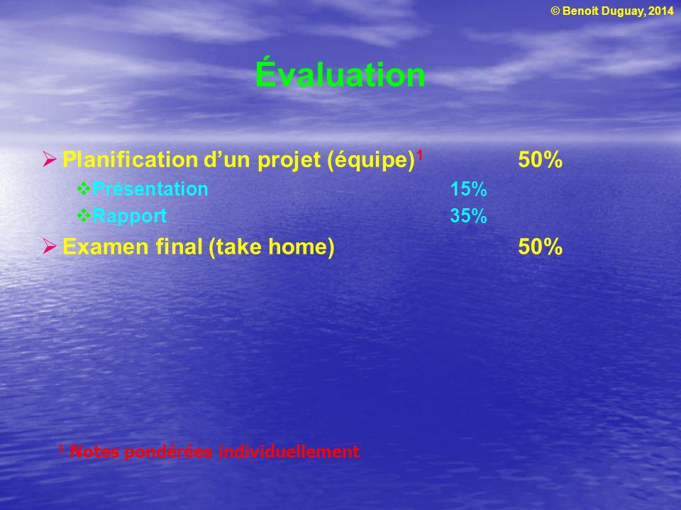 Évaluation Planification d'un projet (équipe)1 50%