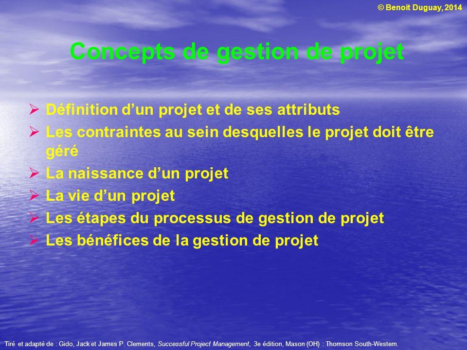 Concepts de gestion de projet