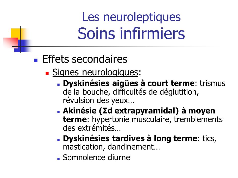 Les neuroleptiques Soins infirmiers