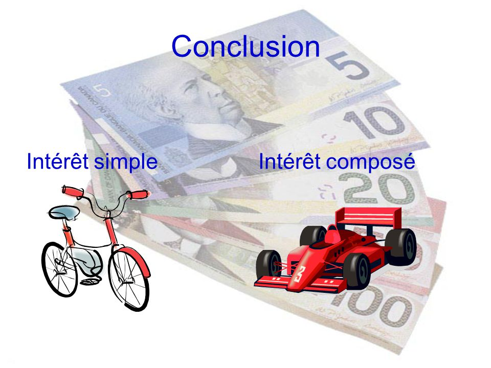 Conclusion Intérêt simple Intérêt composé