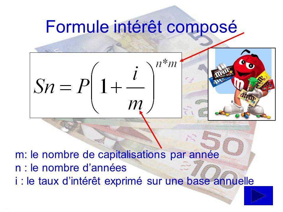 Formule intérêt composé