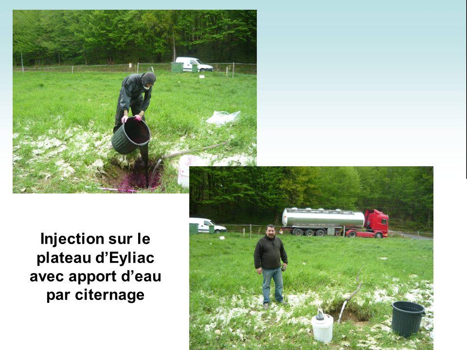 Injection sur le plateau d'Eyliac avec apport d'eau par citernage