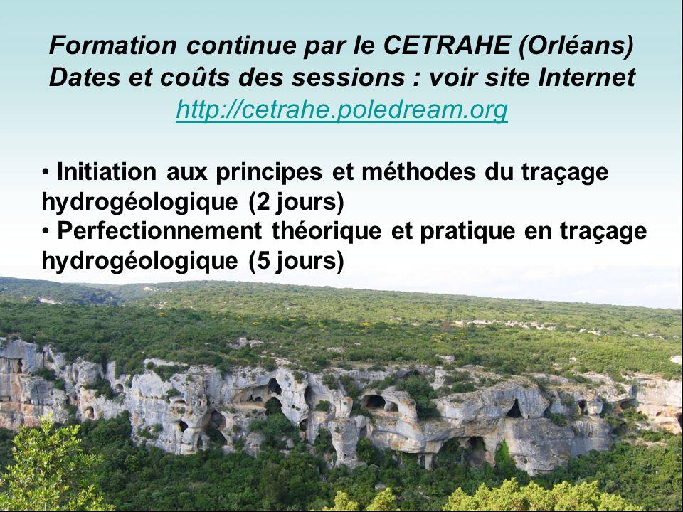 Formation continue par le CETRAHE (Orléans)