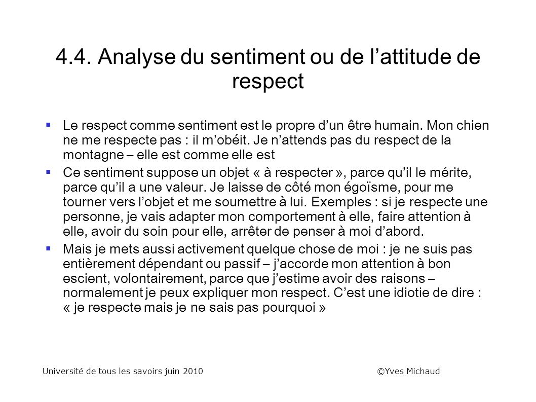 4.4. Analyse du sentiment ou de l'attitude de respect