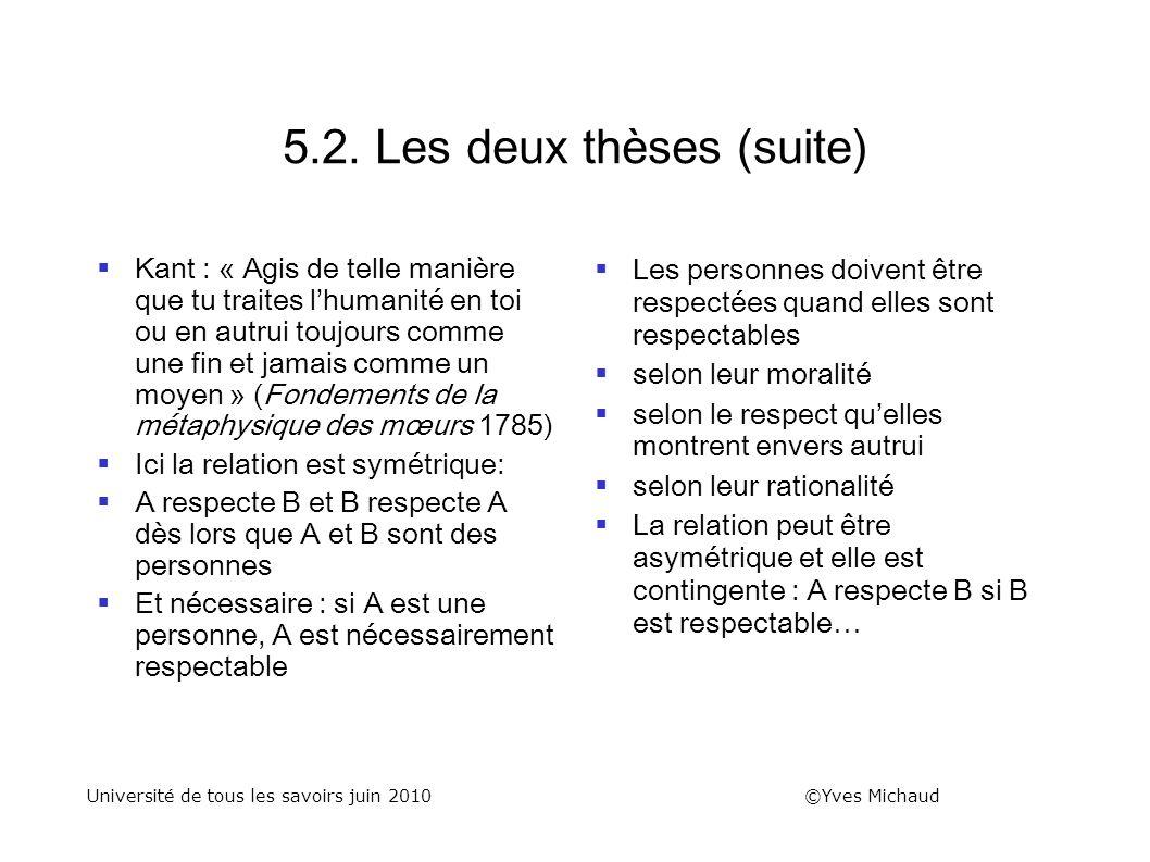 5.2. Les deux thèses (suite)