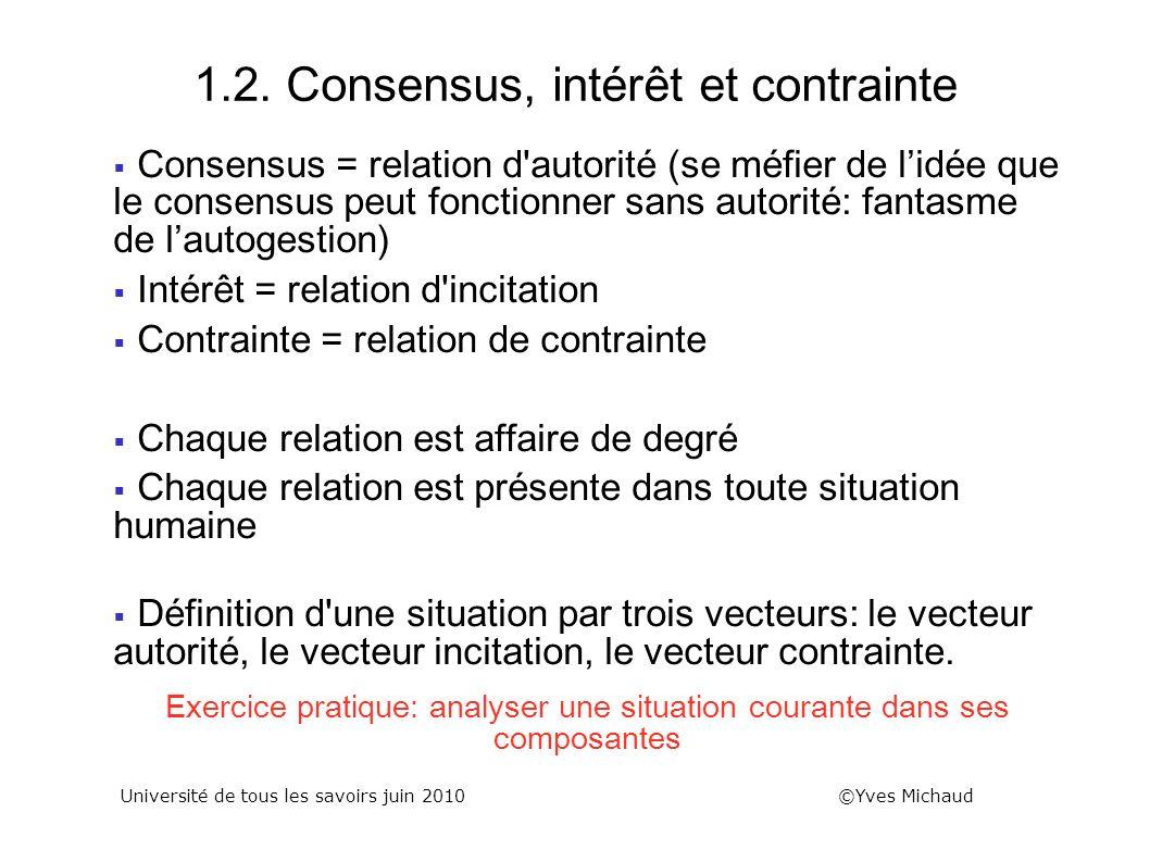1.2. Consensus, intérêt et contrainte