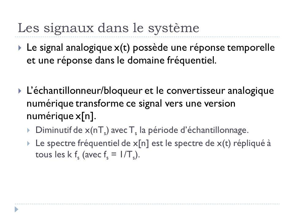 Les signaux dans le système