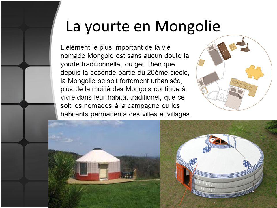 La yourte en Mongolie
