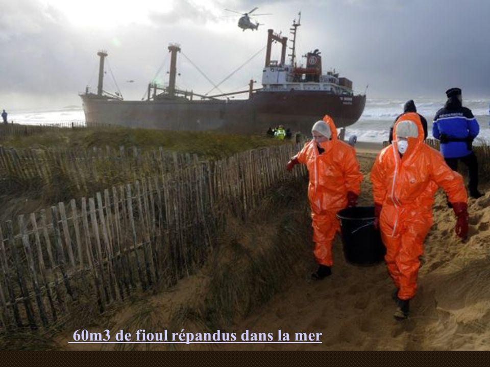 60m3 de fioul répandus dans la mer