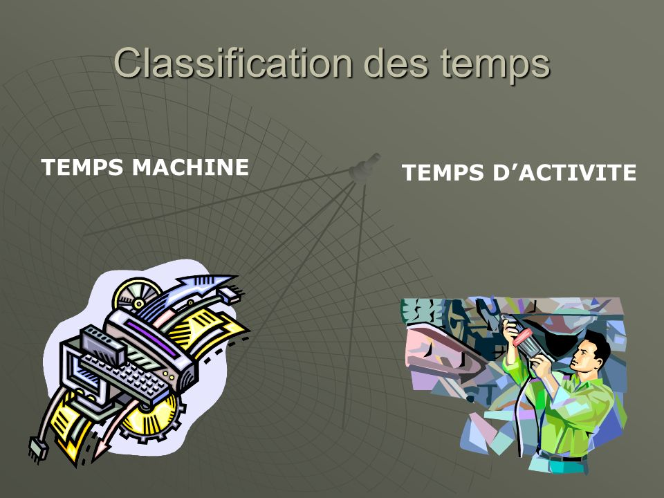 Classification des temps