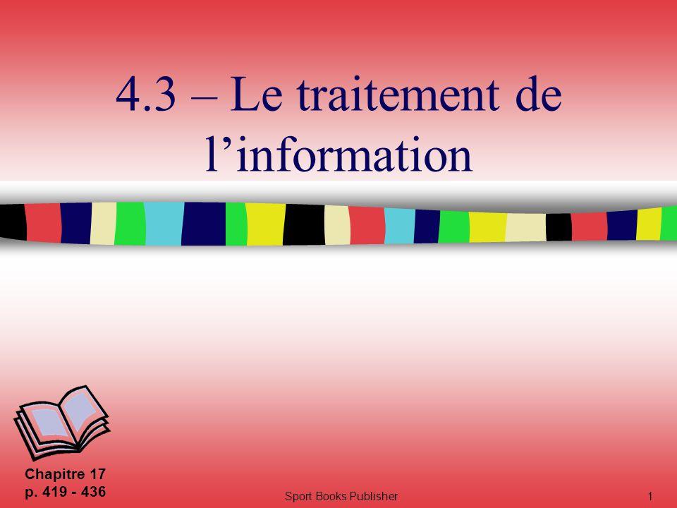 4.3 – Le traitement de l'information