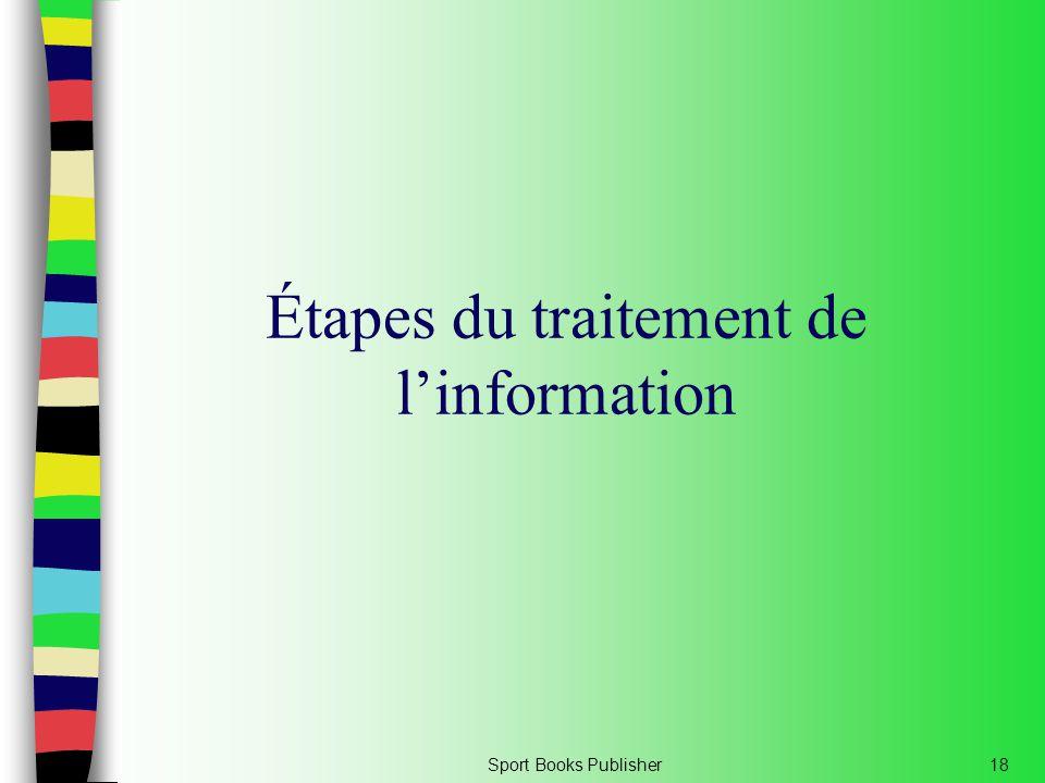 Étapes du traitement de l'information