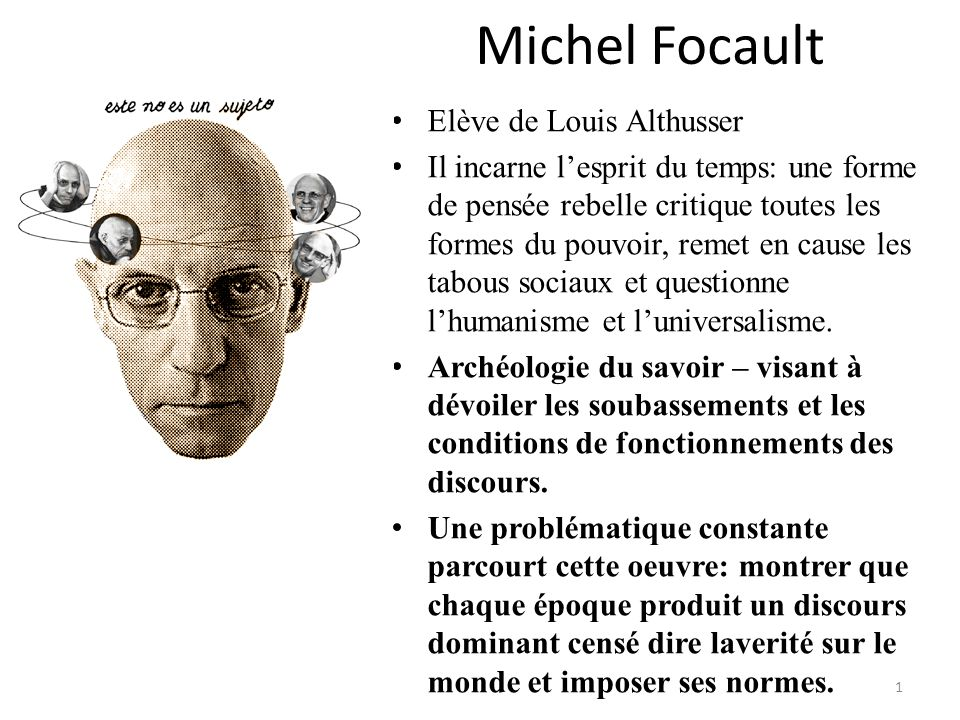 Michel Focault Elève de Louis Althusser