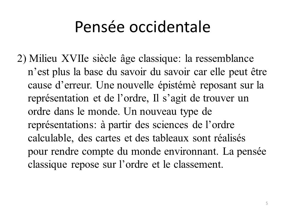 Pensée occidentale