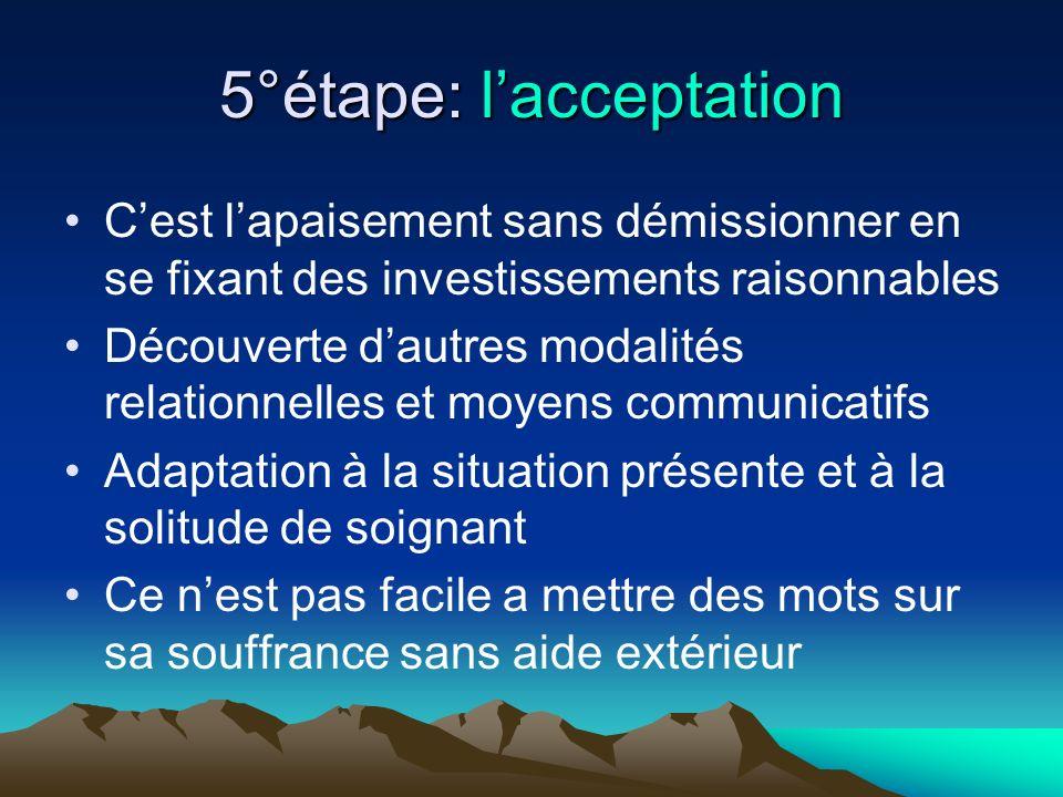 5°étape: l'acceptation