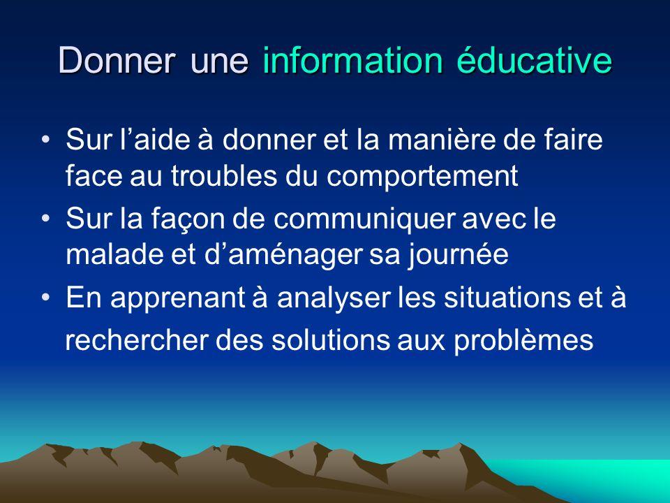 Donner une information éducative
