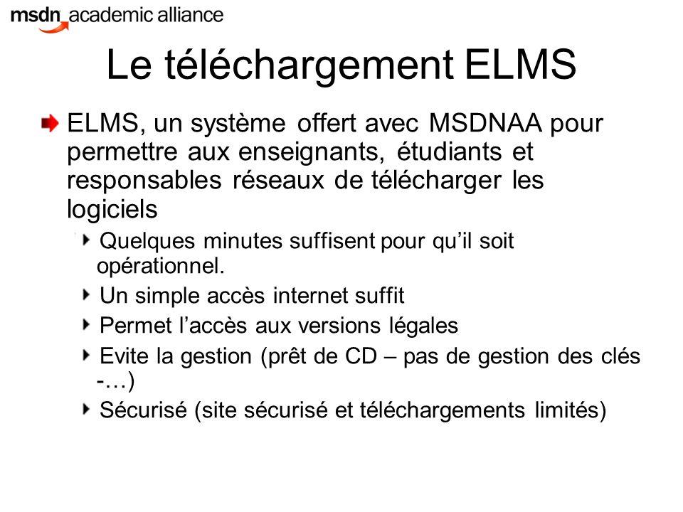 Le téléchargement ELMS