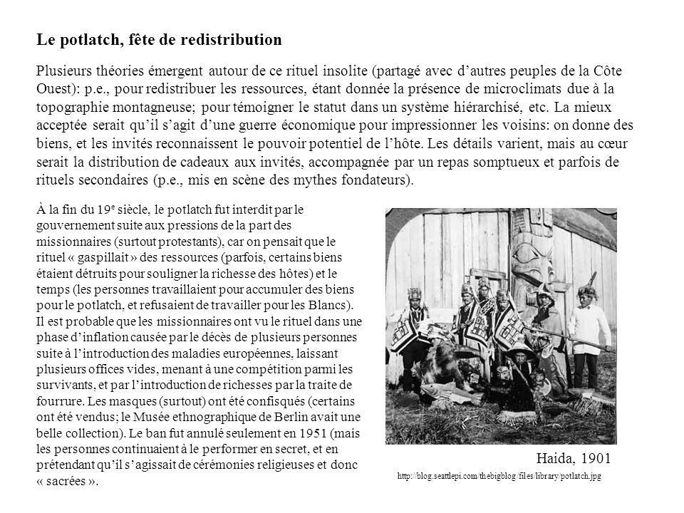 Le potlatch, fête de redistribution