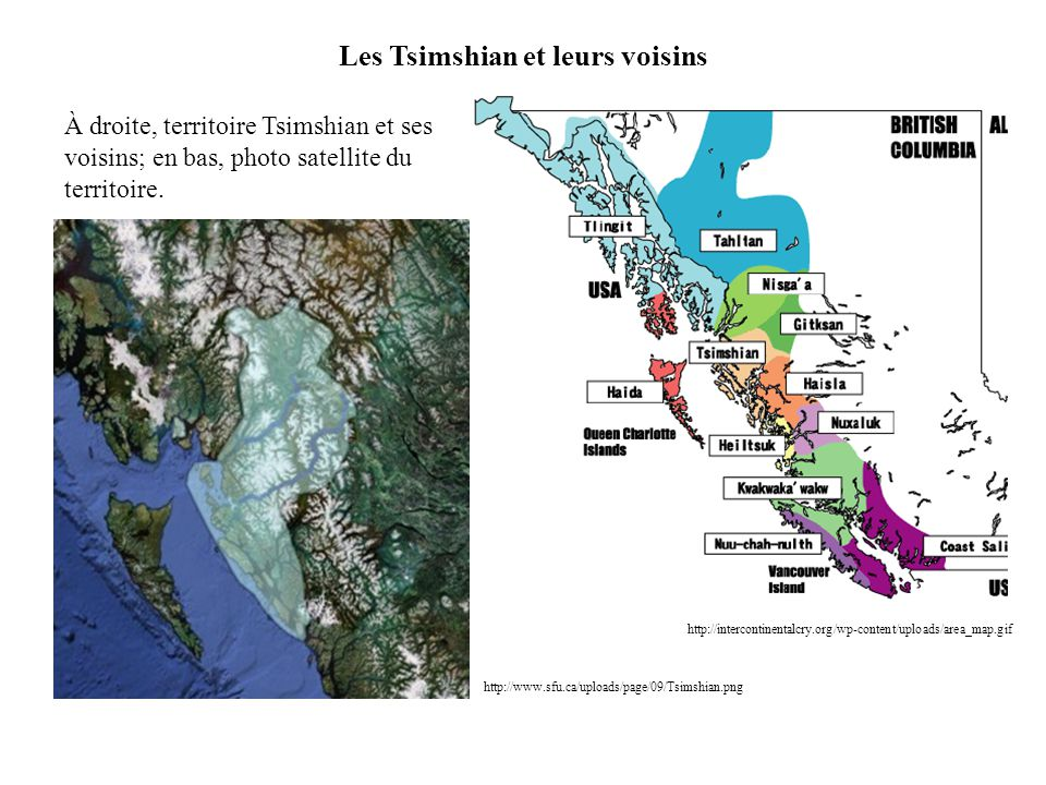 Les Tsimshian et leurs voisins