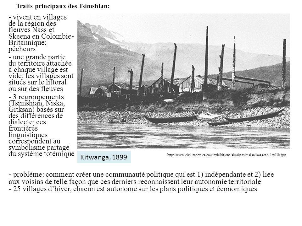 Traits principaux des Tsimshian: