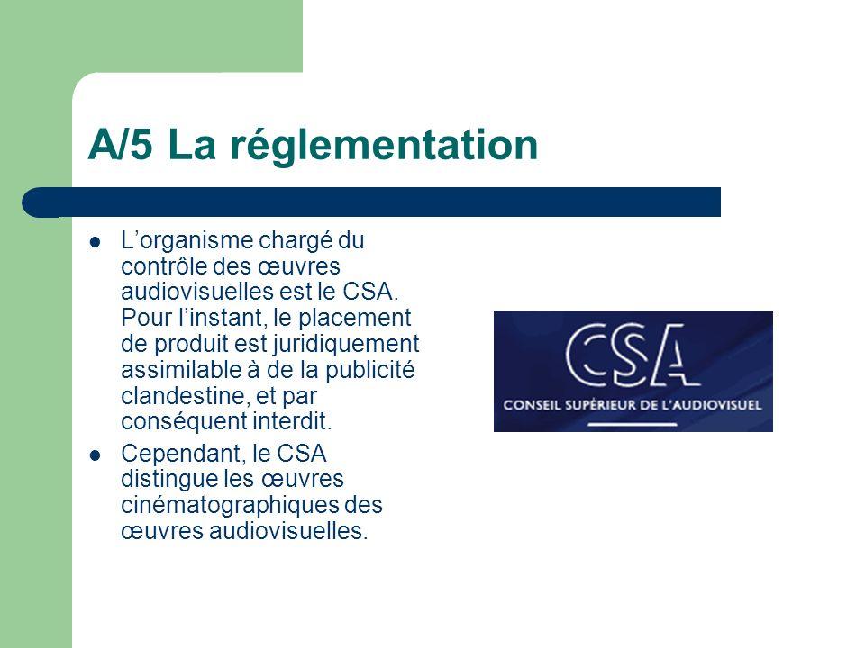 A/5 La réglementation