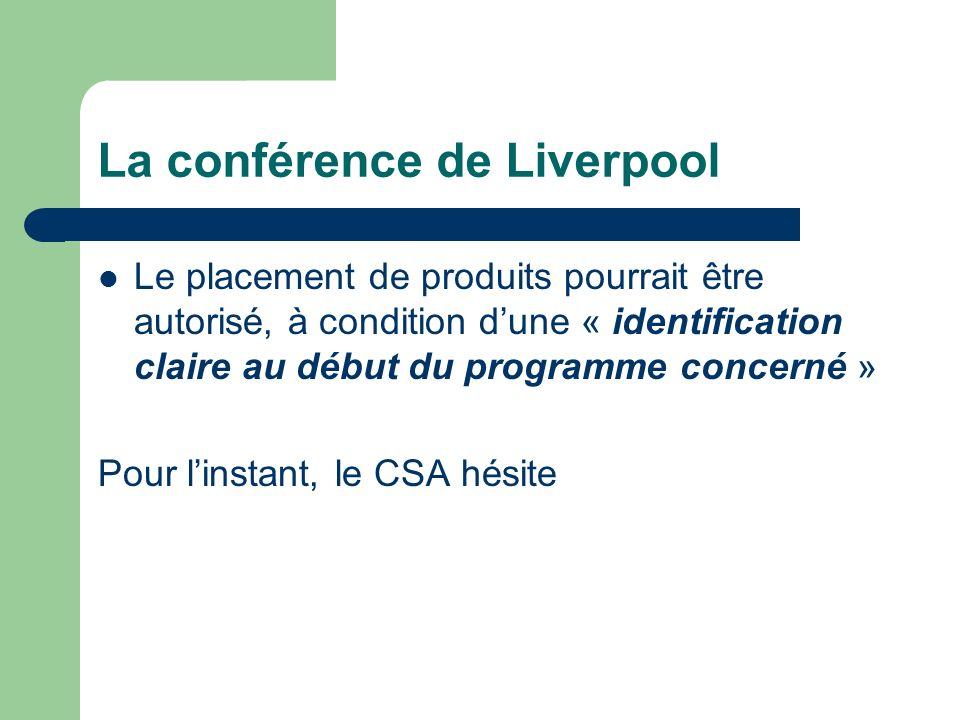 La conférence de Liverpool