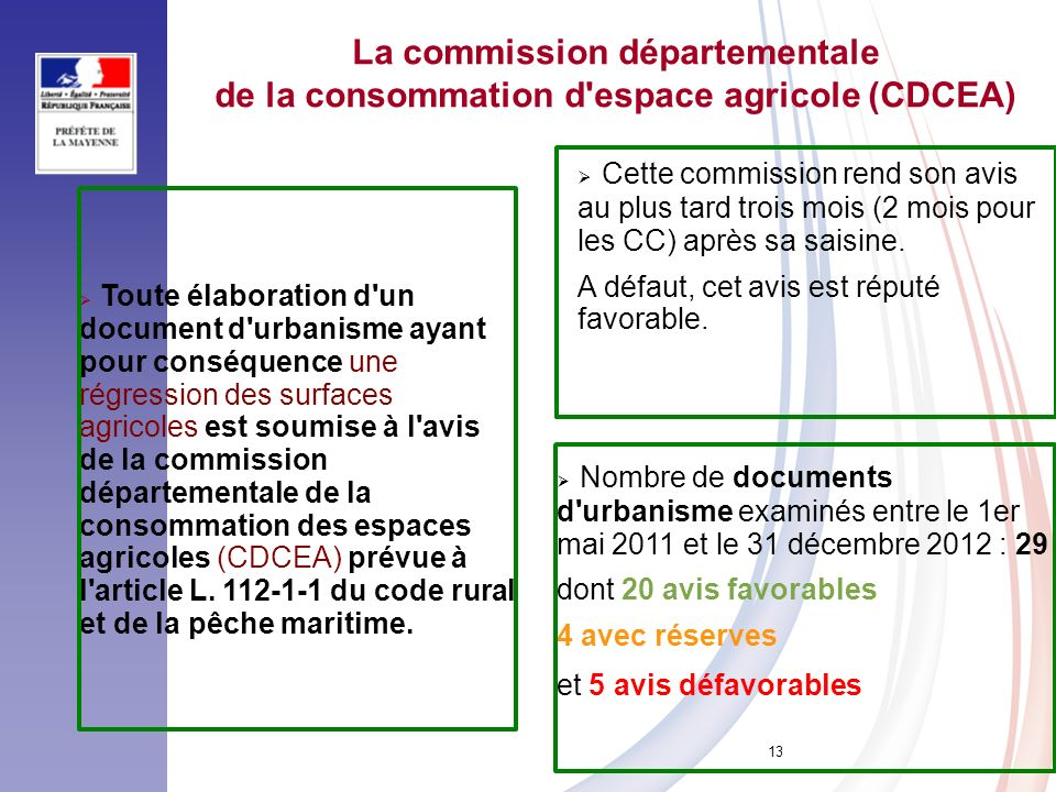 La commission départementale