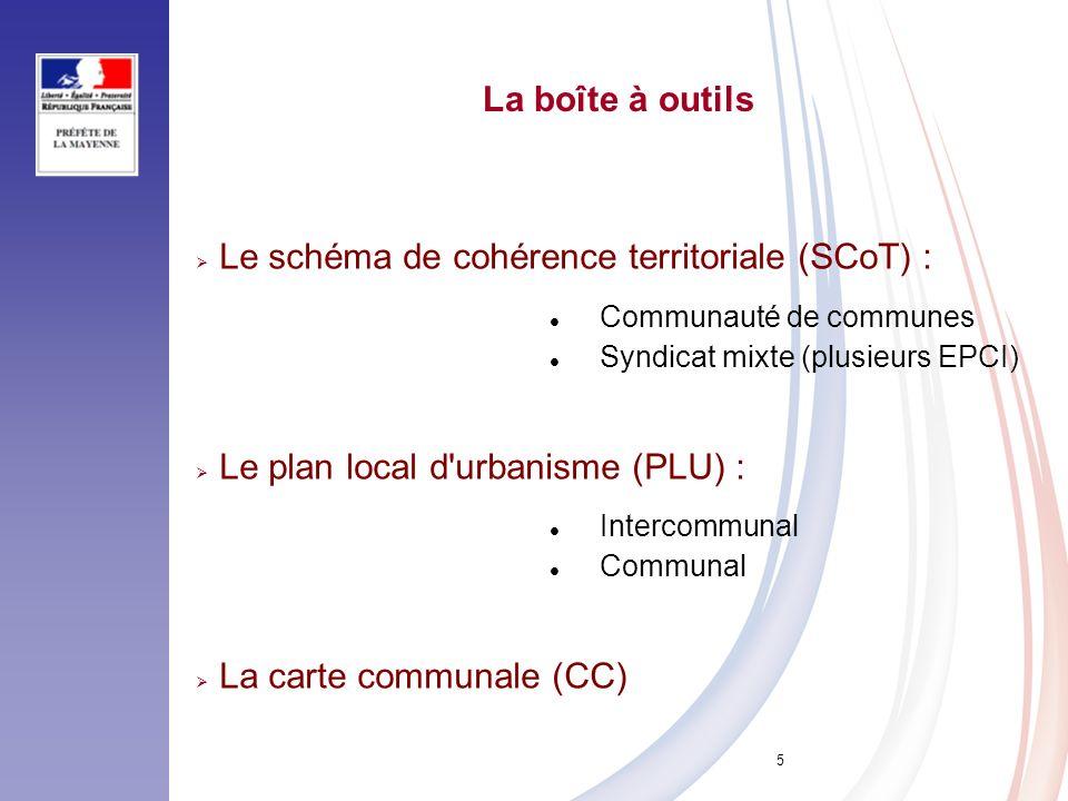Le schéma de cohérence territoriale (SCoT) :