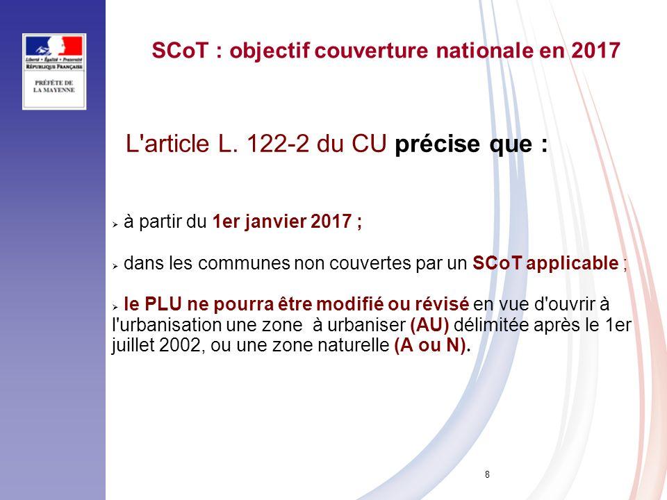 SCoT : objectif couverture nationale en 2017
