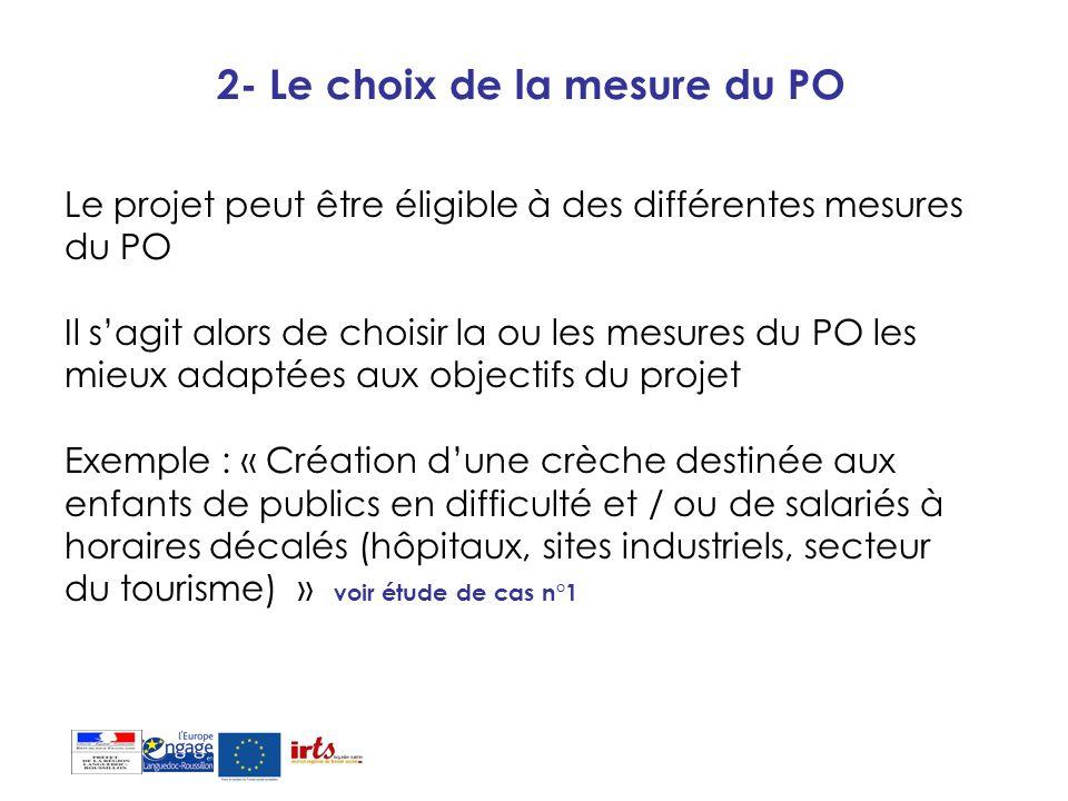 2- Le choix de la mesure du PO