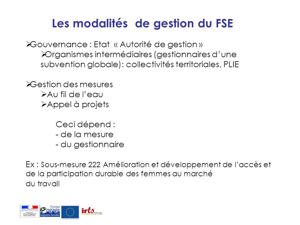 Les modalités de gestion du FSE