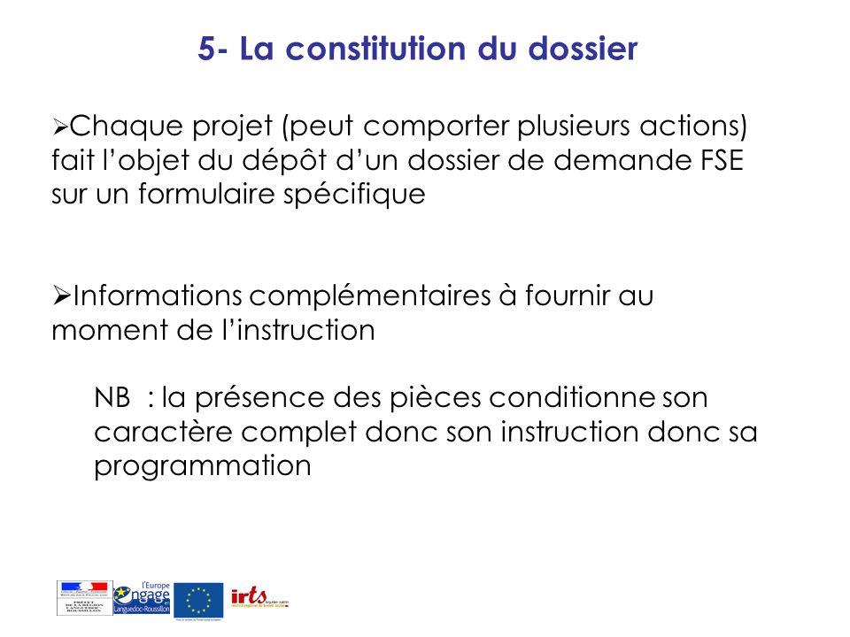 5- La constitution du dossier