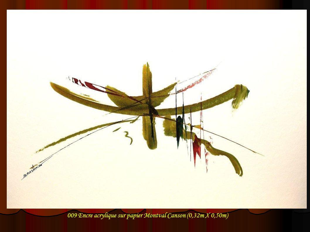 009 Encre acrylique sur papier Montval Canson (0,32m X 0,50m)