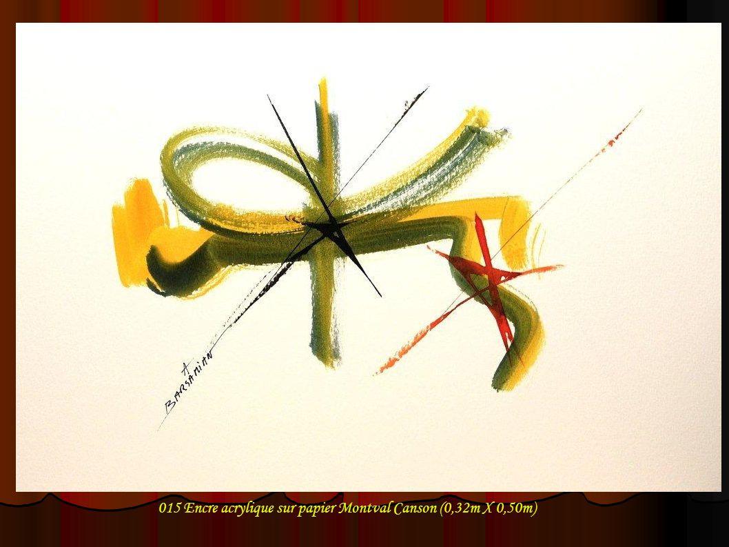 015 Encre acrylique sur papier Montval Canson (0,32m X 0,50m)