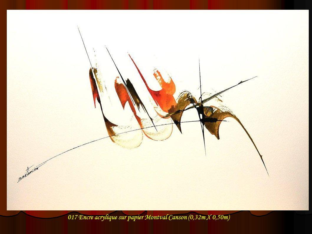 017 Encre acrylique sur papier Montval Canson (0,32m X 0,50m)