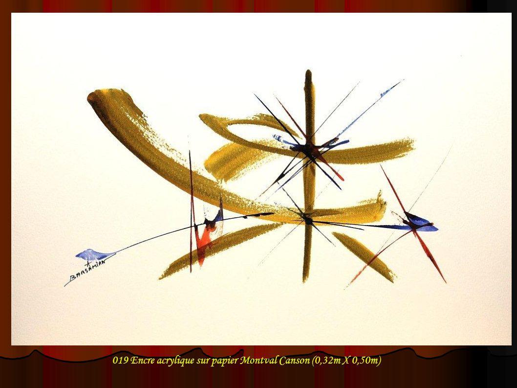 019 Encre acrylique sur papier Montval Canson (0,32m X 0,50m)