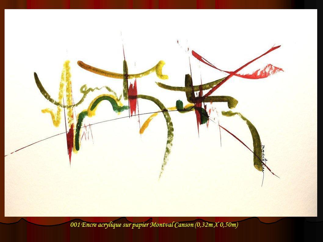 001 Encre acrylique sur papier Montval Canson (0,32m X 0,50m)
