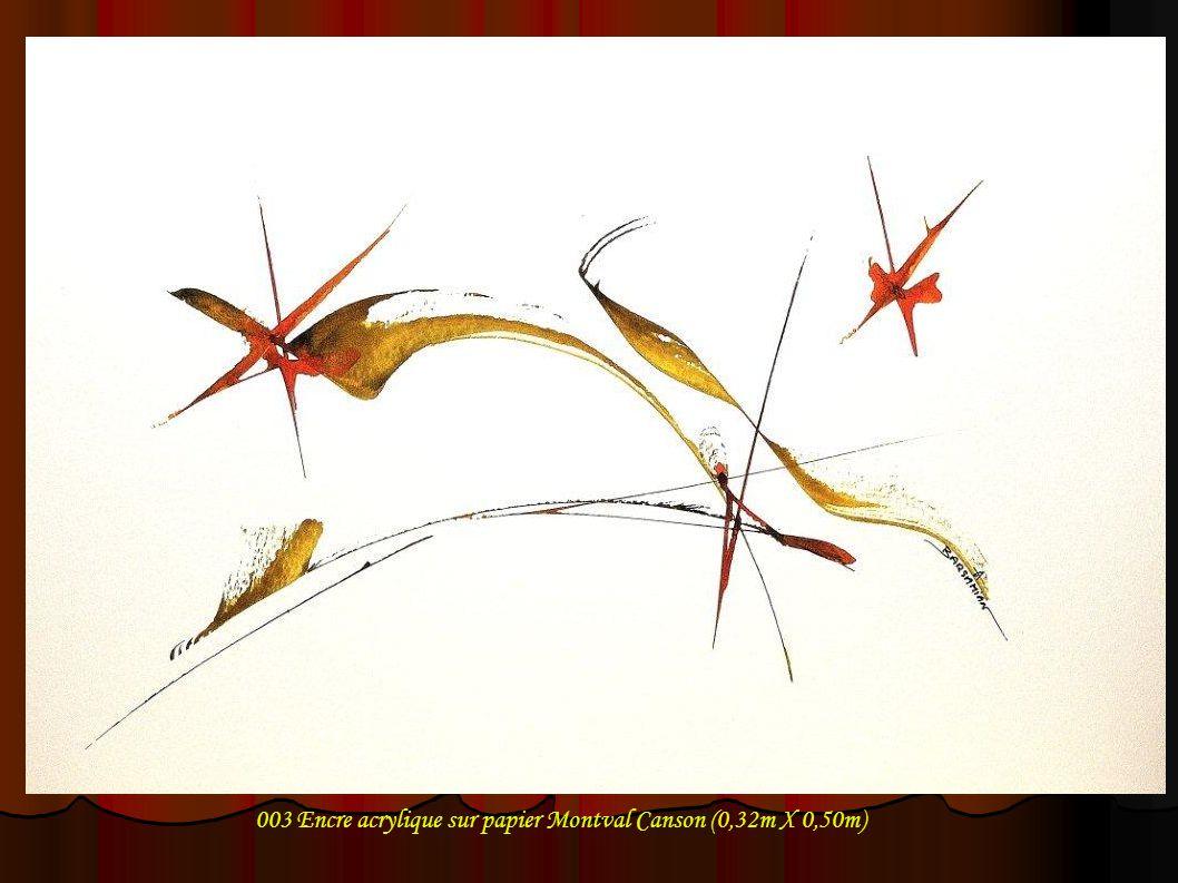 003 Encre acrylique sur papier Montval Canson (0,32m X 0,50m)