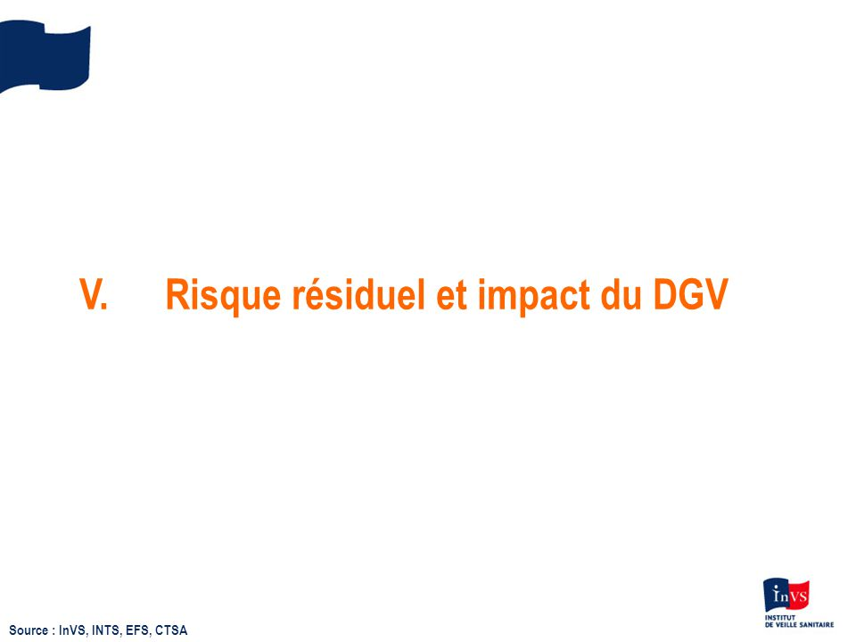 V. Risque résiduel et impact du DGV
