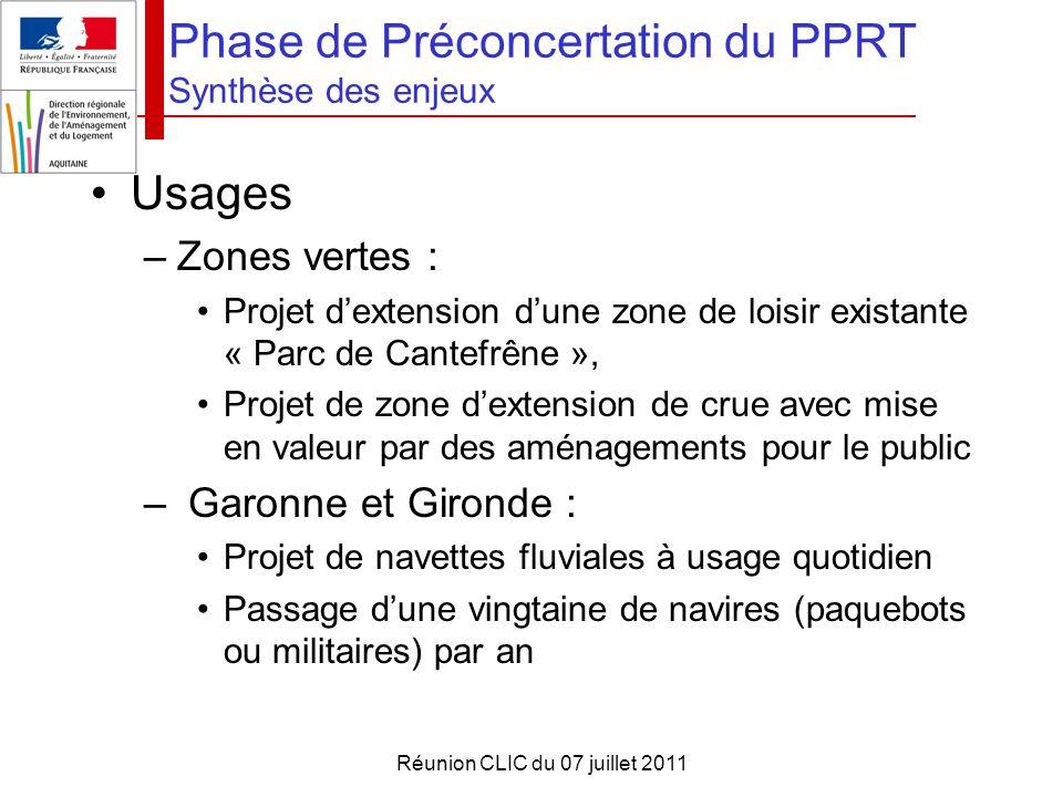 Phase de Préconcertation du PPRT Synthèse des enjeux