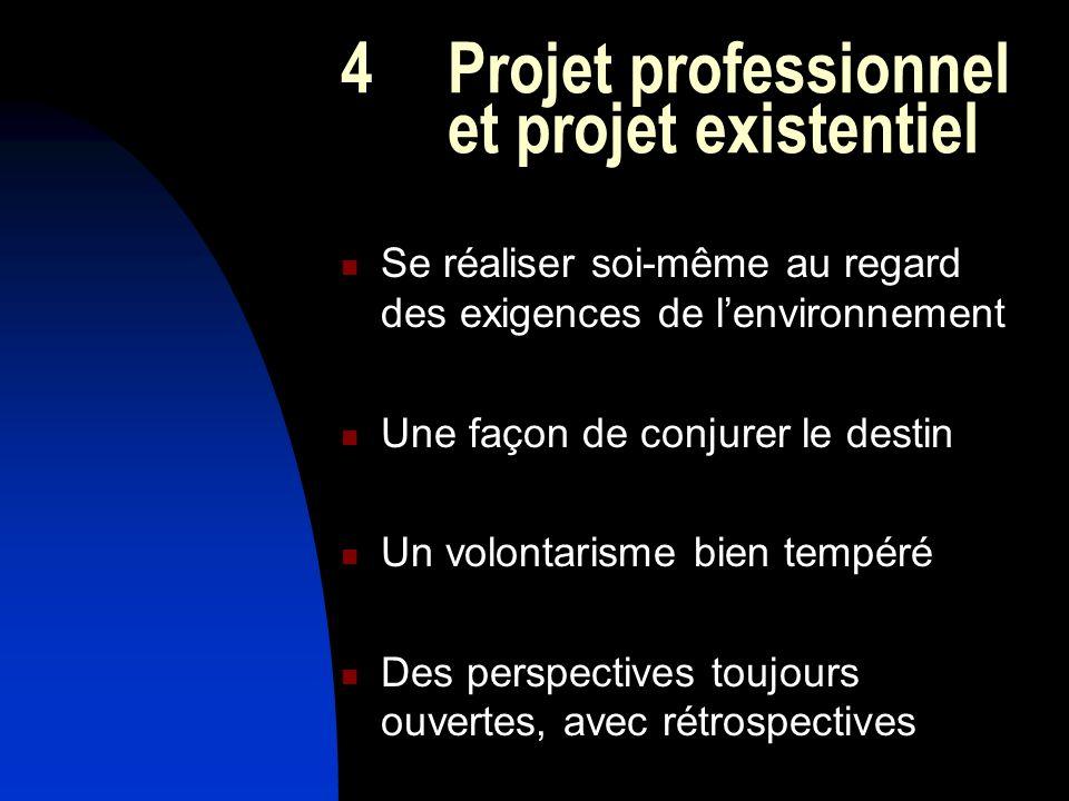 4 Projet professionnel et projet existentiel