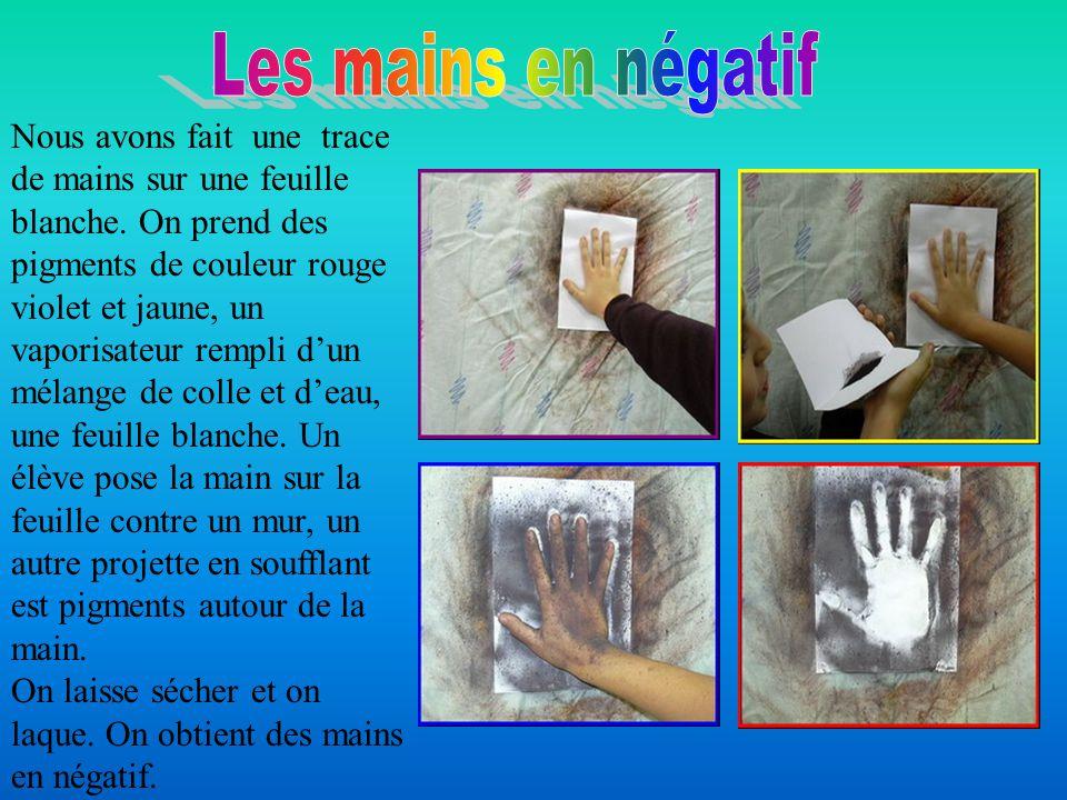 Les mains en négatif