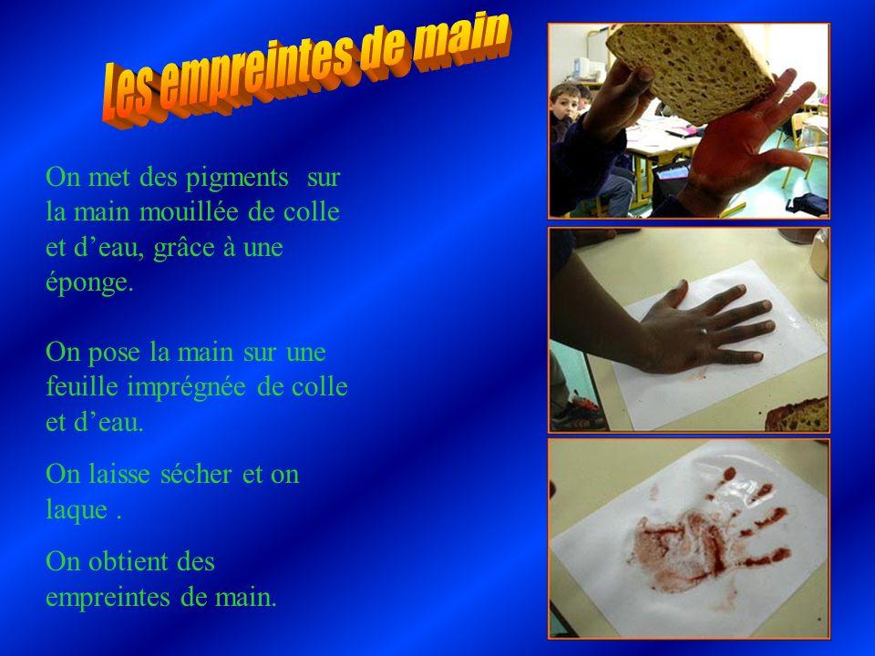 Les empreintes de main