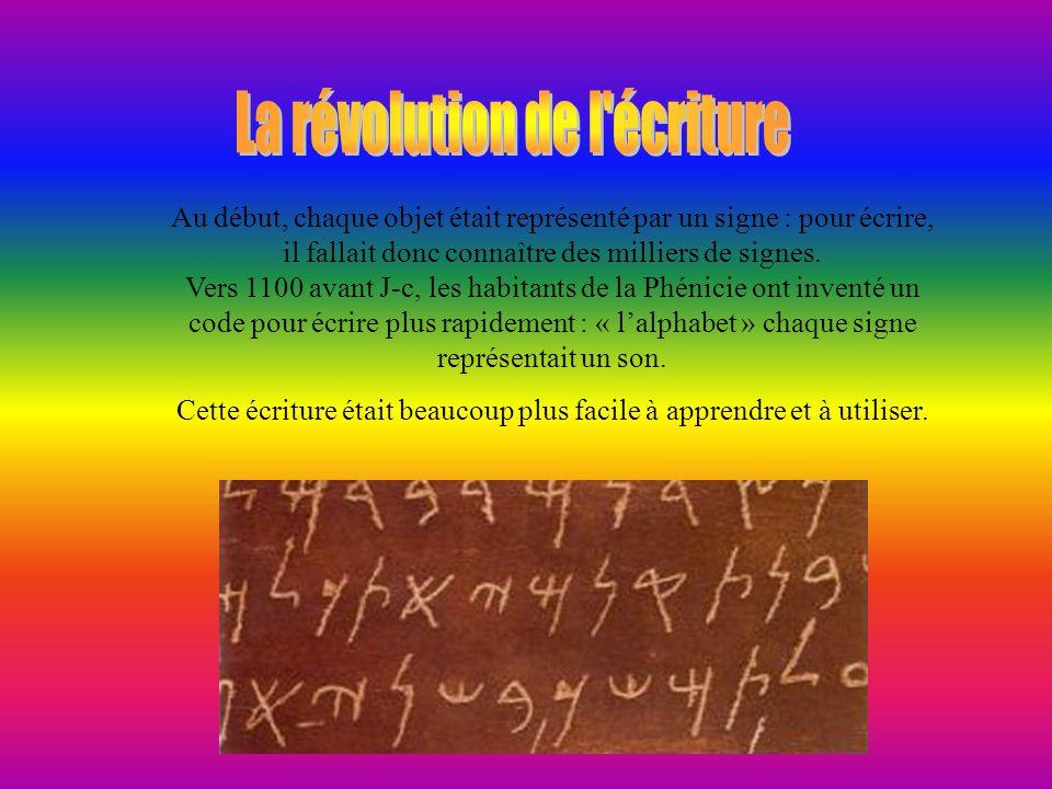 La révolution de l écriture