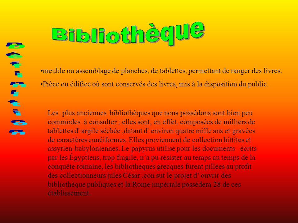 Bibliothèque Définition