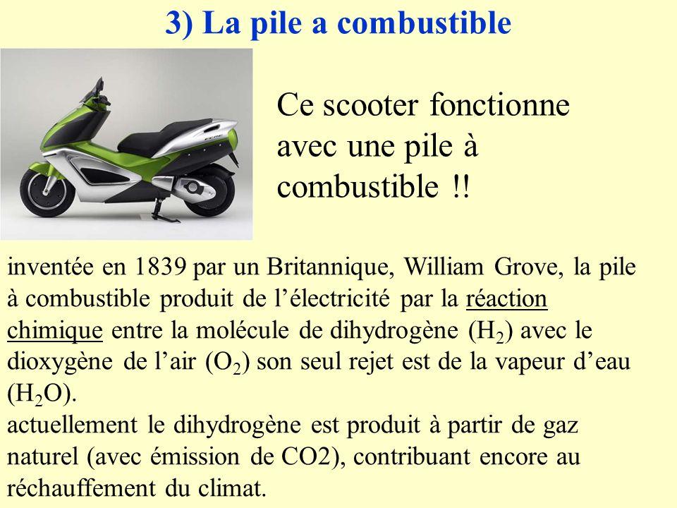 Ce scooter fonctionne avec une pile à combustible !!