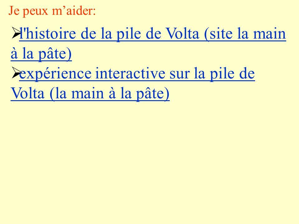 l histoire de la pile de Volta (site la main à la pâte)